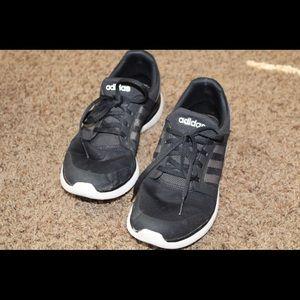 Black adidas running shoe
